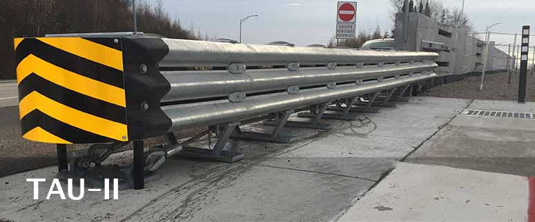Tau-II-Crash-Cushion-by-NW-Barriers-Wasilla-Alaska
